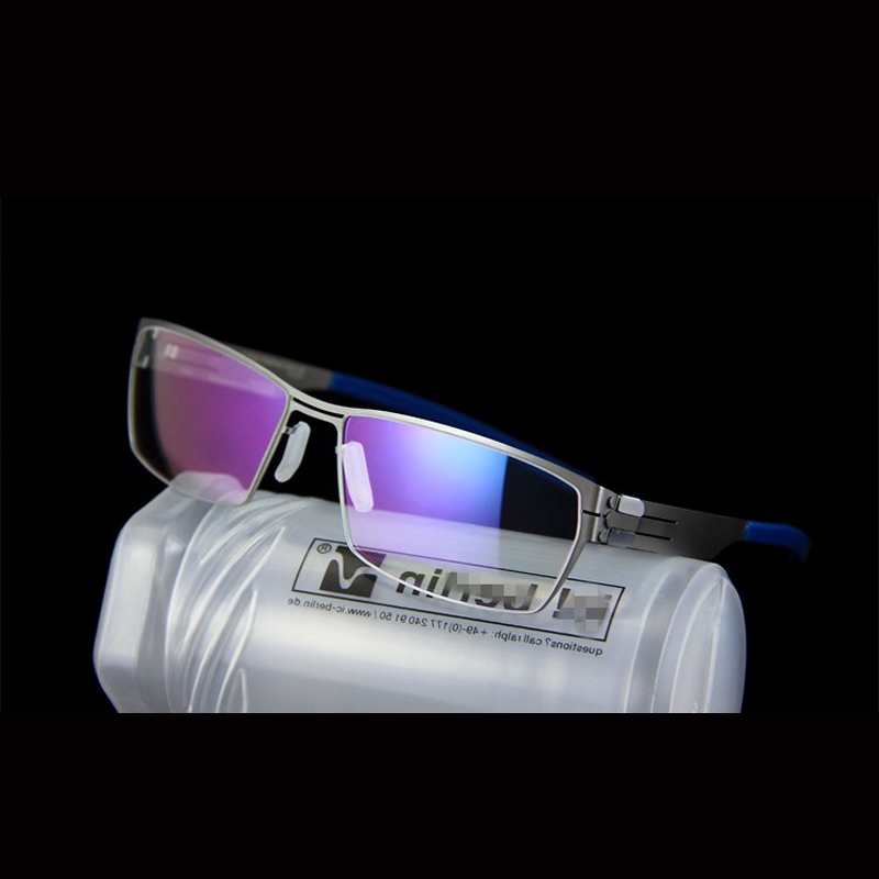 Germany Brand Design Screwless Eyeglasses Men Women Lightweight Optical Glasses Frame With Clip-on Polarized Sunglasses Oculos