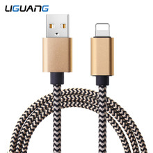 LIGUANG 2.4A USB Cable for iphone Charger cable XS max Xr X USB Fast Charging Cable for iPhone 8 7 6 5s Plus Phone Charger Cord(China)