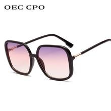 OEC CPO 2019 Ladies Brand Designer Square Sunglasses Women Fashion Oversized Sun Glasses Men Shades Unisex O198