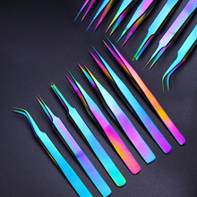 Paslanmaz çelik cımbız hacim kirpik uzantıları kaş cımbız eğimli düz tırnak makası makası makyaj araçları TRNB01 07