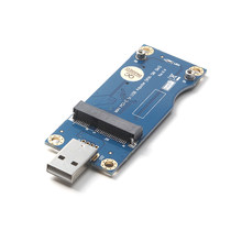 Mini PCI-E PCIe Slot To USB 2.0 Adapter Card VER 5.0 with SIM Card Slot for GPS/WWAN/LTE 3G/4G Wireless Module