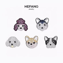 Cute Dog Earrings 925 Sterling Silver micro inlaid zircon, exquisite and lovely, feminine style and fashion