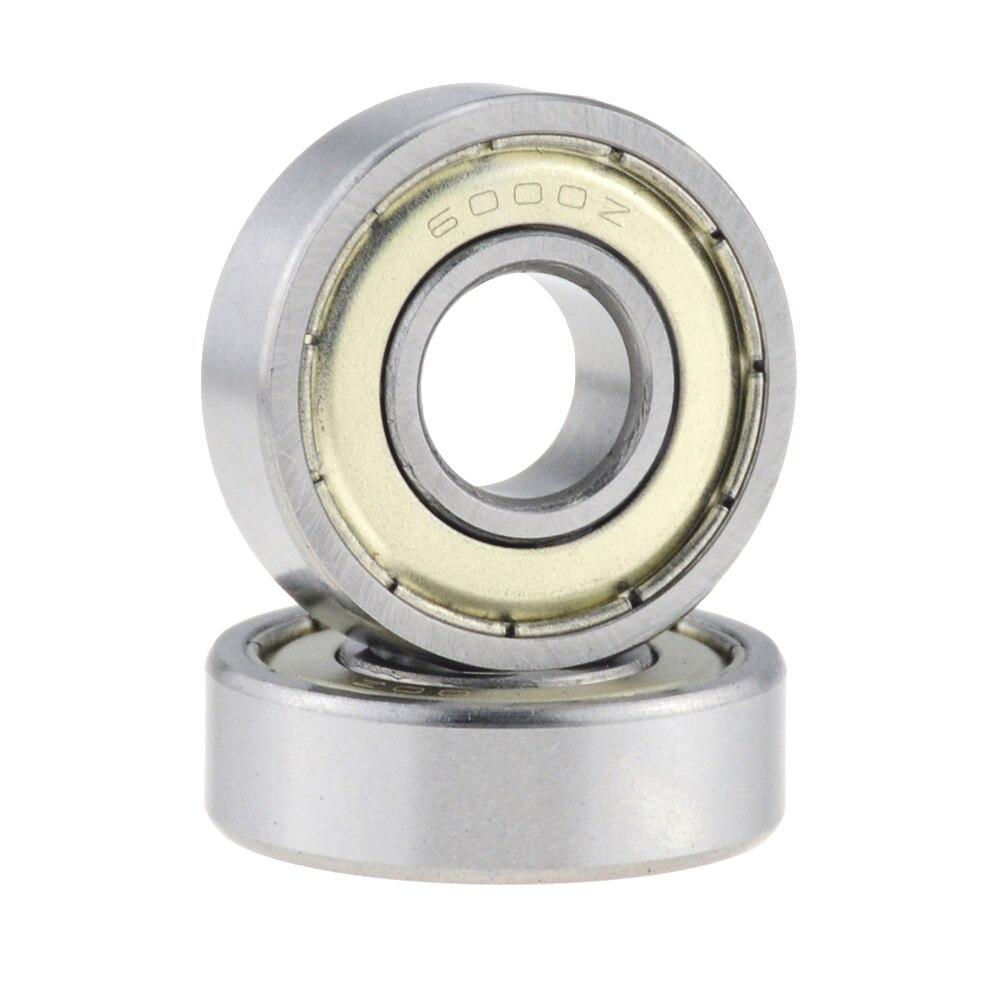 1pc Metal Shields Bearing 6000zz 10x26x8mm 6000-2RS 10*26*8mm Miniature Deep Groove Ball Bearing 6001zz6002zz6003zz6004zz6005zz