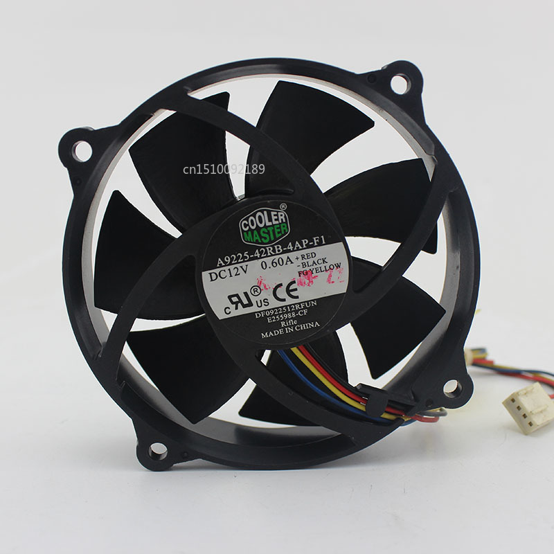 For A9225-42RB-4AP-F1 12V 0.60A 9CM 9025 4 Wire Fan Free Shipping