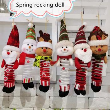 Ozdoby świąteczne Swing ozdoby świąteczne święty mikołaj ozdoby świąteczne ozdoby świąteczne materiały dekoracyjne lalki sprężynowe tanie i dobre opinie Shangriink CN (pochodzenie) Pendant jewelry Bez pudełka na prezent 1 piece