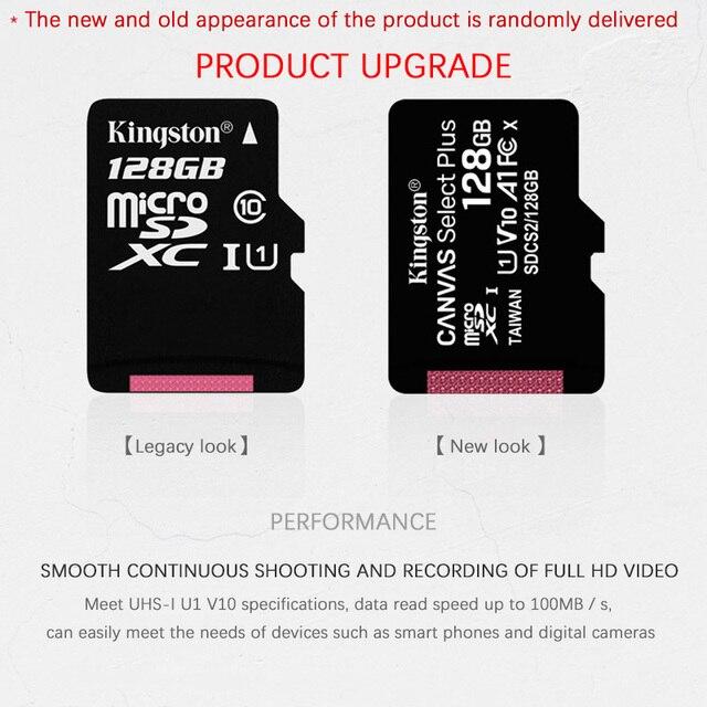 Kingston tarjeta De memoria De alta calidad Clase 10 128GB 64GB 32GB 16GB 8GB MicroSDXC tarjeta Micro sd Cartao De Memoia para teléfono/tableta/PC