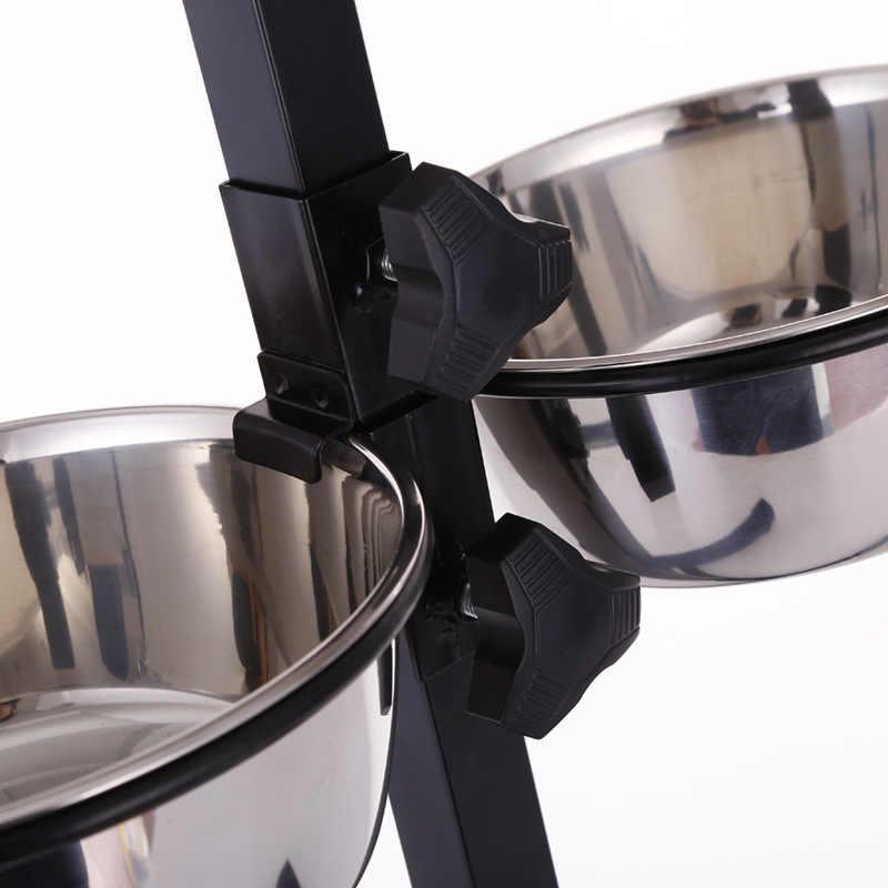Ze stali nierdzewnej podnoszona miska dla psa zwierzę domowe naczynia spożywcze stojąca czteronożna miska dla zwierząt domowych