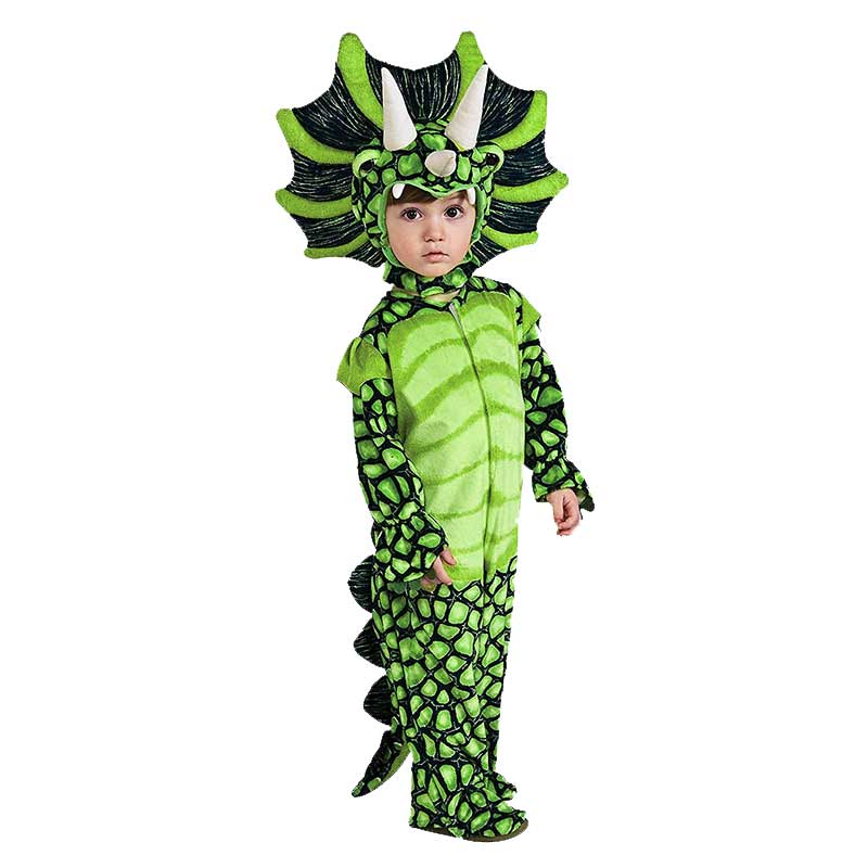 Hot Triceratops Dinosaur Costume Boys Kids Little T-Rex Cosplay Costume Jumpsuit Halloween Christmas Party Costumes For Girls