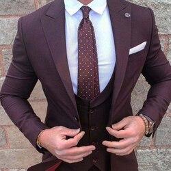 ANNIEBRITNEY, 3 шт., светильник, серый, приталенный, мужской деловой костюм, на заказ, облегающий жених, свадебный смокинг, зауженный, для выпускного...