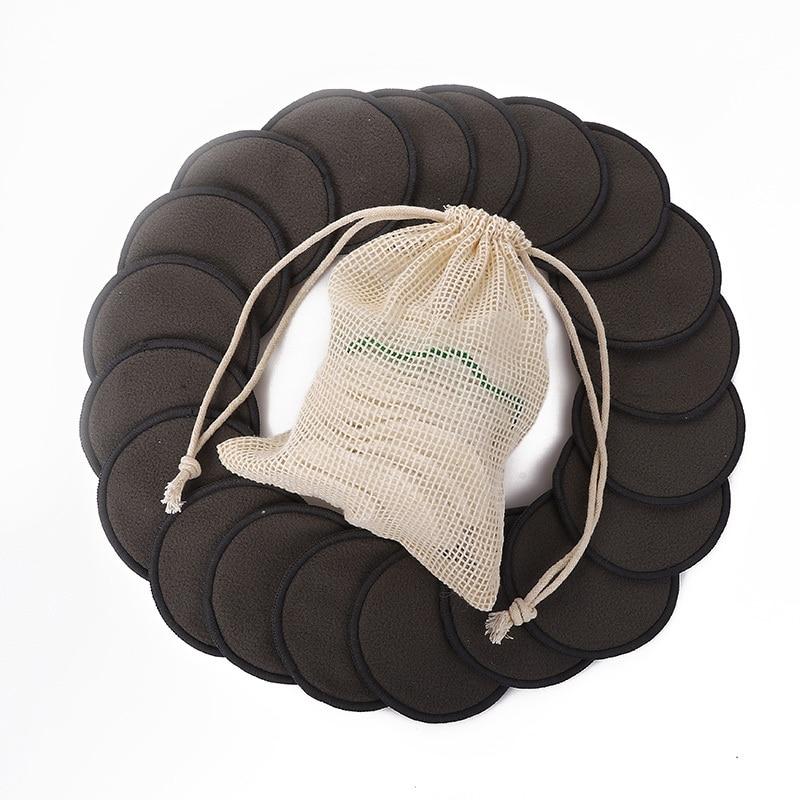 12 шт./компл. Новый многоразовый мешок из бамбукового волокна; Моющиеся патронов колодки средство для снятия макияжа с ватными тампонами Очи...