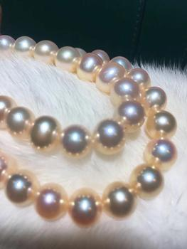 D109 Pearls Necklaces Fine Jewelry Natural Fresh Water 8-9 Champagne Peals Necklaces for Women Fine Pearls Necklaces фото