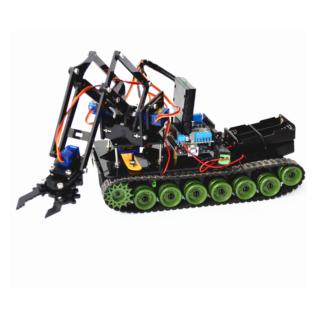 New DIY Programmable Arduino Robot Kit Made With Plastic And Metal Material For Arduino