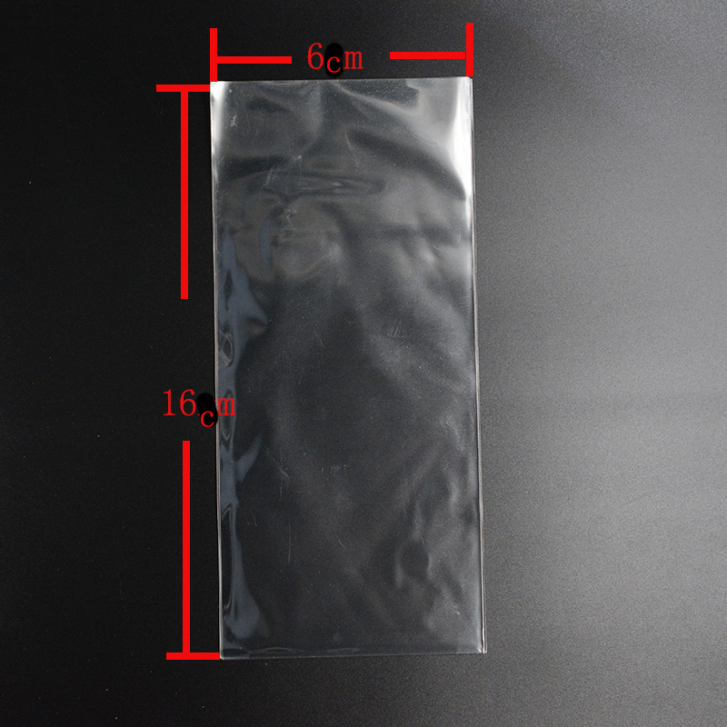 Pouches 6cm*16cm Pouches Clear Cellophane/BOPP/Poly Bags Transparent Opp Bag Packing Plastic Bags No Self Adhesive Seal