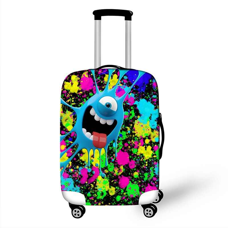 3D Colorful Beans Stretch Elastic Luggage Protective Cover Suit For 18-32 Inch Trolley Suitcase Case Covers Travel Accessories