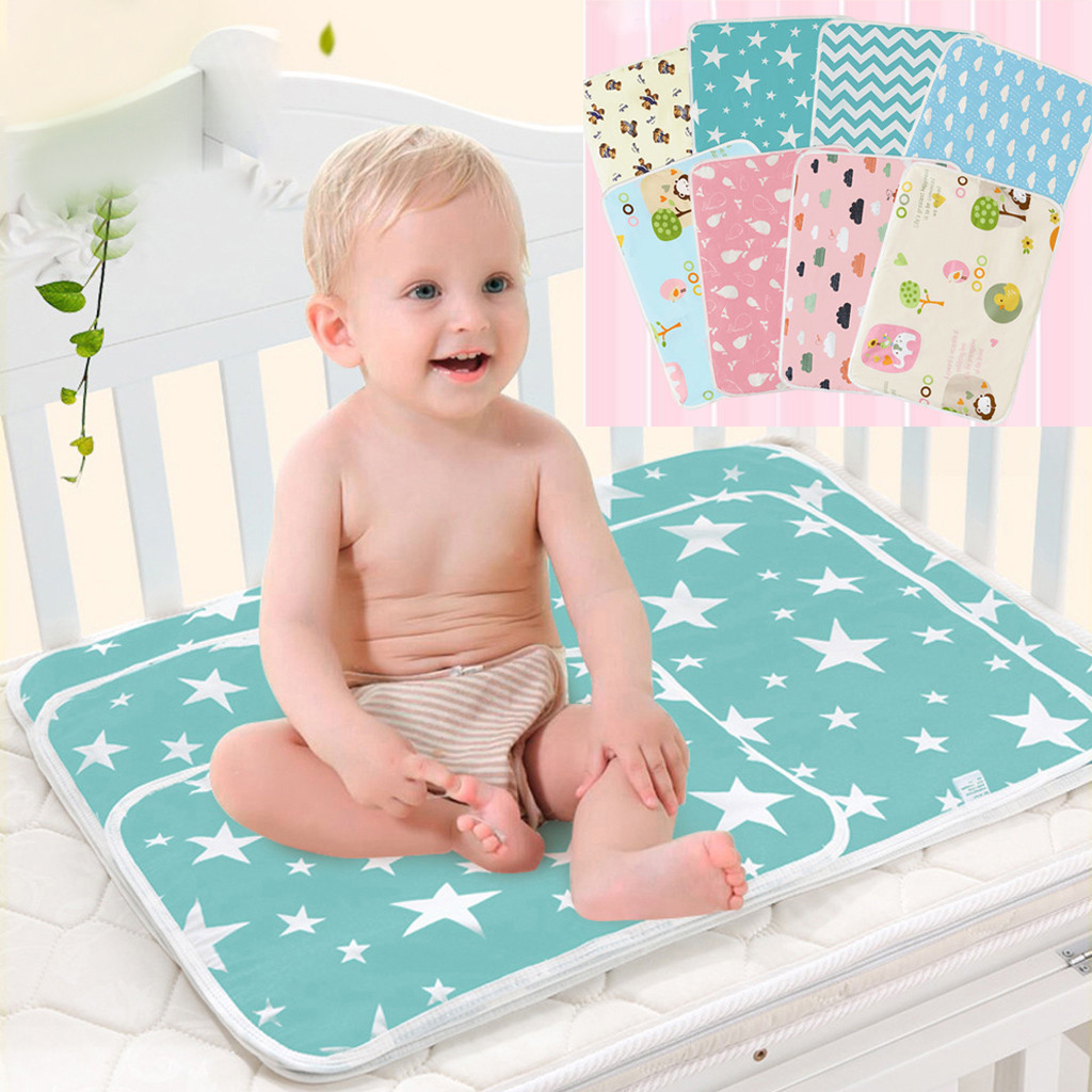 Baby Diaper Changing Mat Infants Portable Foldable Washable Waterproof Mattress Travel Pad Floor Mats Cushion Reusable Pad Cover