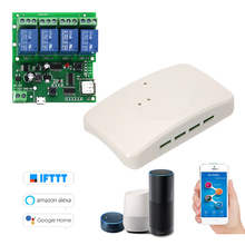 eWeLink Smart Remote Control Wireless Switch Universal Module 4ch DC 5V 12V 32V Wifi Switch with Shell Timer  APP Remote Control