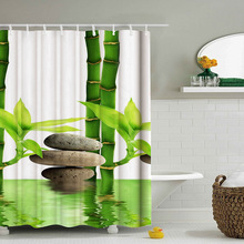 150* 180cmMulti-Styles 3D HD цифровой занавески для душа с принтом водонепроницаемые, влажность-доказательство Ванная комната Шторы s полиэстер Душ Шторы