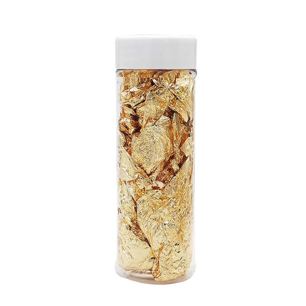 24K Leaf Gold ฟอยล์การทำอาหารเครื่องดื่มอาหารขนมเค้กตกแต่งไอศกรีมตกแต่ง Gilding Dining ทองจานทำอาหารเครื่องมือ