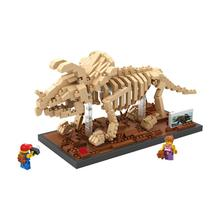 hot LegoINGlys creators Jurassic Dinosaur Fossil mini Micro Diamond Building Blocks MOC Triceratops model bricks toys for gifts недорого