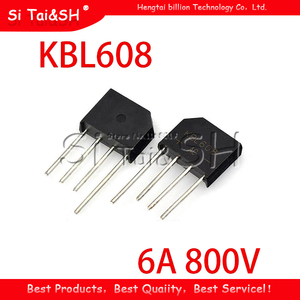 10PCS KBL608 bridge rectifier 6A 800V 100% new original quality assurance