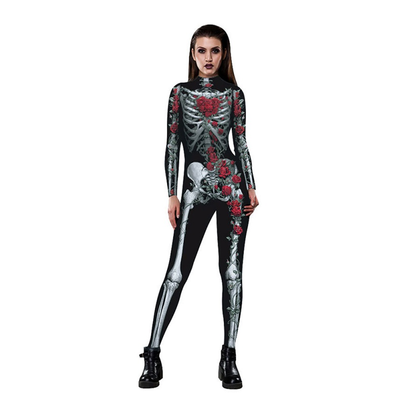 Baby Kid Boy Halloween Skull Skeleton Party Costume Romper Bodysuit Hat Set 0-12
