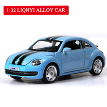 Hot Sell Mini Simulated Alloy Car Model Beetle Toy Car Acousto-optic Model Toys for Birthday Gifts for Male and Female Children цены онлайн