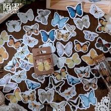 46 قطعة/الحزمة فراشة قصة ورقة صغيرة ملصقا الديكور مذكرات سكرابوكينغ التسمية ملصقا القرطاسية