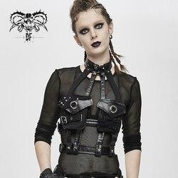 Devil Fashion женский панк Холтер Воротник полые аксессуары регулируемый пояс корсет аксессуар