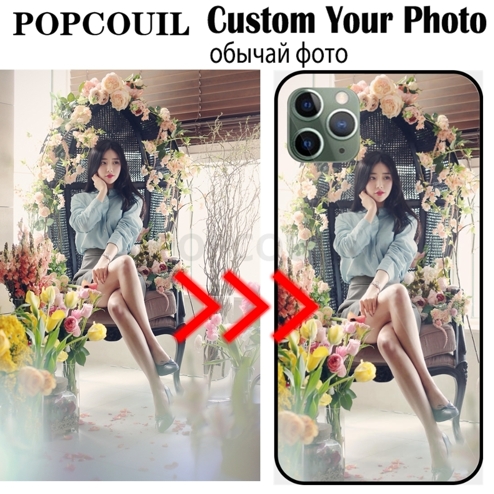 POPCOUIL Luxury DIY Custom Case For Samsung Galaxy M10 A10 20 <font><b>30</b></font> <font><b>40</b></font> <font><b>50</b></font> <font><b>60</b></font> <font><b>70</b></font> A20E A6 A8 A9 S A20 Core Note 10 10Plus Photo Cover image