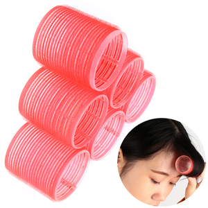Hot Sale 6 Pcs/Set Multi Size Random Color Large Self Grip Hair Rollers Pro Salon Hairdressing Curlers Hair Salon Tools