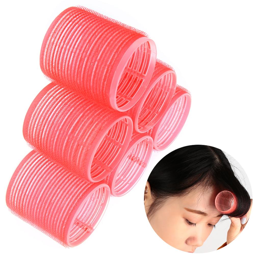 Venda quente 6 pçs/set multi tamanho cor aleatória grande auto aperto rolos de cabelo pro salão de beleza cabeleireiro rolos ferramentas