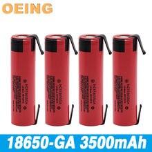 Dorigine – batterie lithium 3.7 rechargeable à haute décharge 3500 V, 18650 MAH, panneau plat
