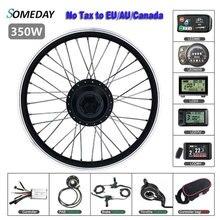 Комплект для преобразования электрического велосипеда один день 36 В 48 В 350 Вт 16 20 24 26 27,5 28 дюймов 700C Передняя шестерня ступицы колеса мотора д...