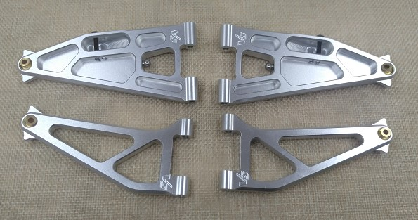 Baja Rey 1:10 Scale Losi LOS234004 Front Suspension Arm Set Upper//Lower Black Horizon Hobby