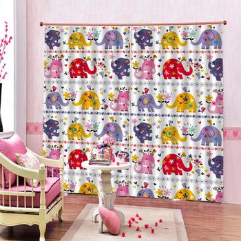 cartoon curtains Customized size Luxury Blackout 3D Window Curtains For Living Room kids curtains