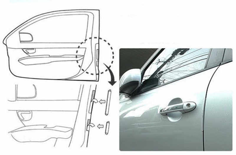 Pintu Panas Tepi Penjaga Mobil Styling Styling Mouldings Pintu Mobil Protection Strip Universal Auto Mobil Pengganti Door Protector