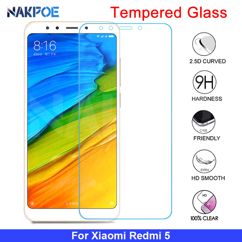 9H Protective Glass On The For Xiaomi Redmi 5 Plus 5A 4 4X 4A GO S2 K20 Note 4 4X 5 5A Pro Tempered Screen Protector Glass Film