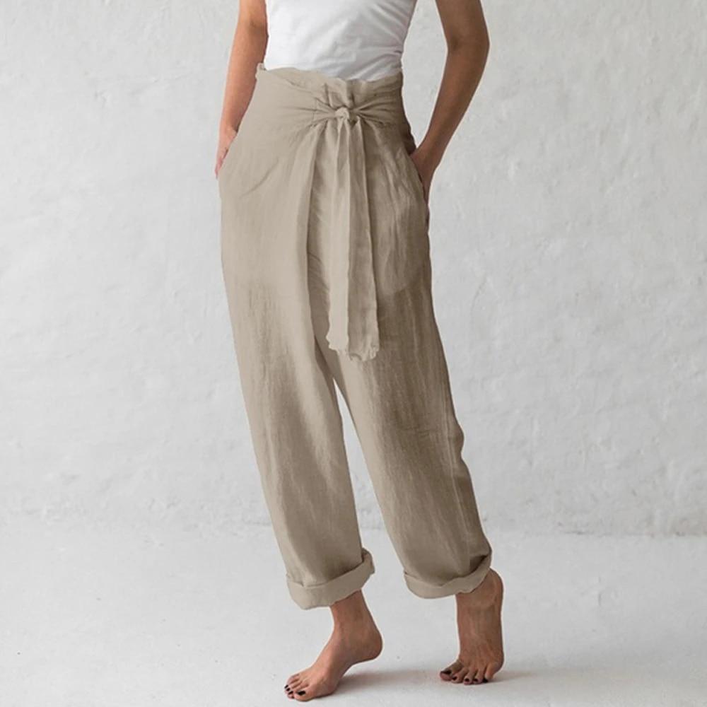 Black Cotton Pants Womens