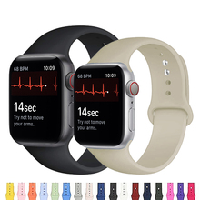 Silicone Strap For Apple Watch band 44mm 42mm 40mm 38mm Sport watchband bracelet iWatch for apple watch series 6 SE 5 4 3 2 se