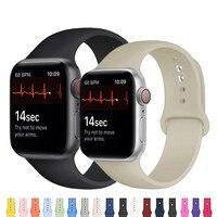 Silikon Strap Für Apple Watch band 44mm 42mm smartwatch armband armband iwatch 40mm 38mm correa für apple watch 6 SE 5 4 3