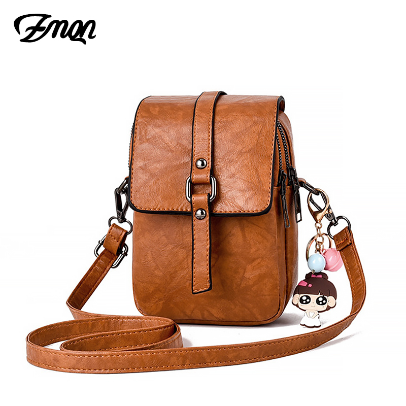 ZMQN Women Messenger Bags Small Leather Female Shoulder Bags For Girl Mini Purse And Phone Pocket Crossbody Bag Chains 2019 C220