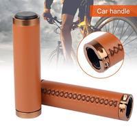 1 paar PU Leder Fahrrad Retro Abschließbar Nicht slip Hand genäht Griff-in Fahrrad Griffe aus Sport und Unterhaltung bei