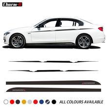 Film vinyle à rayures latérales, autocollants pour BMW F30 F31 série 3 Sport, style de voiture, M Performance, Accent
