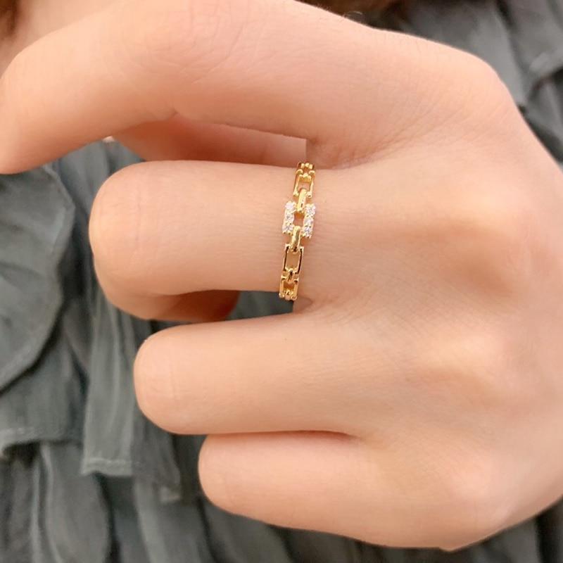 18k or diamant bague de fiançailles et mariage naturel véritable diamant bague bijoux ont certificat 003 - 6