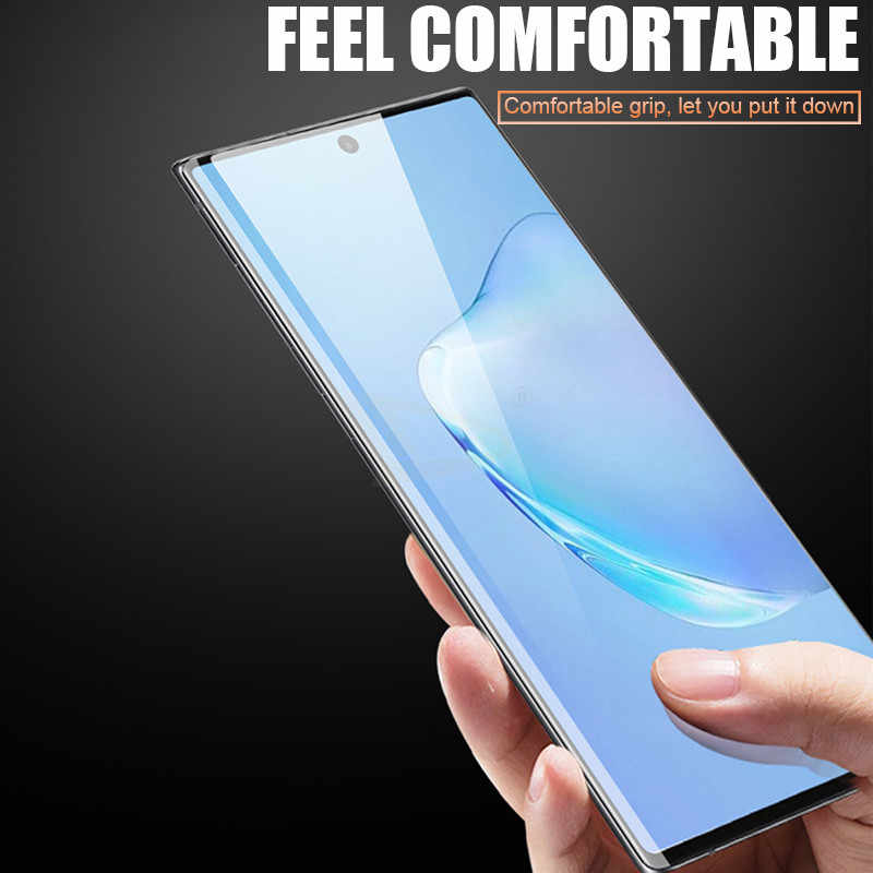 100D كامل الزجاج المقسى لسامسونج غالاكسي نوت 10 برو S8 S9 S10 زائد غطاء شاشة حامي نوت 9 8 S10E لايت طبقة رقيقة واقية
