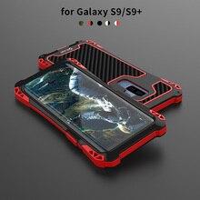 삼성 갤럭시 S9 플러스 케이스에 대 한 충격 방지 실리콘 프레임 갤럭시 S10 플러스 하드 쉘에 대 한 금속 알루미늄 범퍼 갑옷 전화 커버