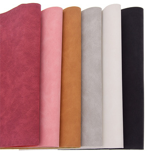 Lychee Life 21x29cm A4 Faux Suede PU Leather Fabric For Garment Waterproof Synthetic Leather Fabric DIY Sewing Material