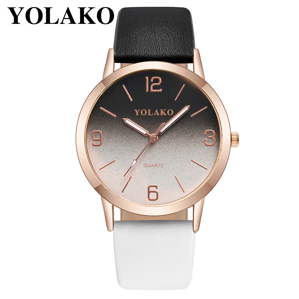 Leather Strap 2019 Fashion simple Quartz Women Dress Watches Digital Dial Bracelet Ladies Casual Wristwatch Relogio Feminino in Women 39 s Watches from Watches