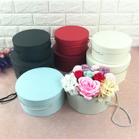 24set Florist Hat Boxes Round Box Candy Gift Boxes Gift Bag Box Packaging Boxes for Gifts Christmas Flowers Gifts Living Vase