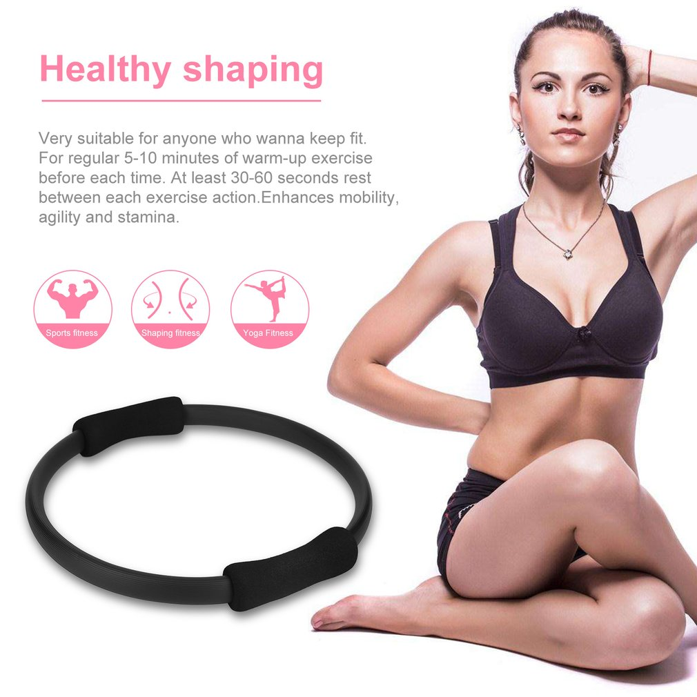 Pilates Ring Magic Circle Dual Grip Sporting Goods Yoga Ring Exercise Fitness 4